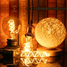Retro Spiral Light LED Filament Bulb 220V A60 ST64 G125 G95 G80 T45 T185 Dimmable 4W 2200K Vintage Lamps For Decorative Lighting