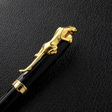 Luxury Metal Leopard Ballpoint Pen Office Sign Pen Smooth Writing Fountain Pen Student School Stationery Supplies Ink Pens
