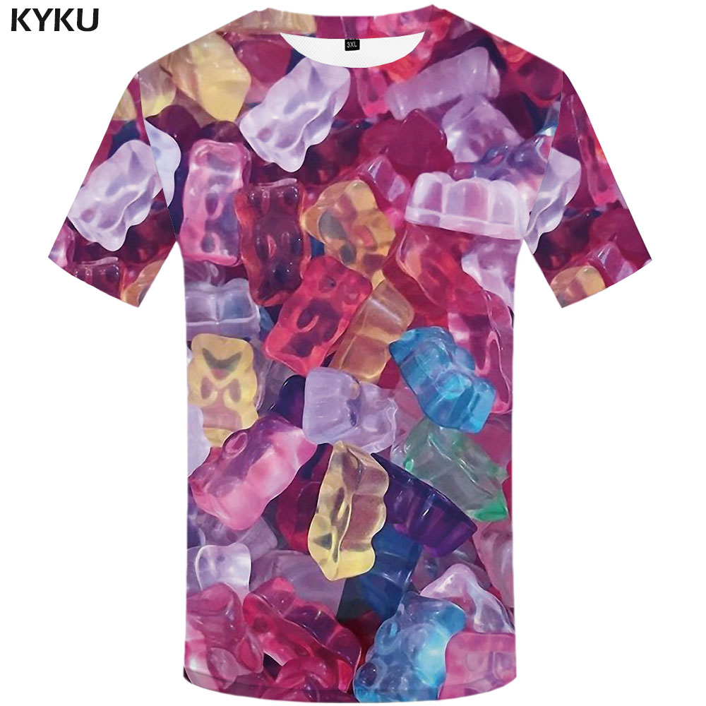 3d Tshirt cukierki koszulka męska żywności koszula druku  9oY7F
