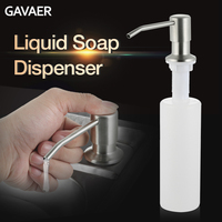 Gavaer ABS Plastic Kitchen 300ml Sink Soap Dispenser Built Lotion Pump Plastic Bottle Bathroom Kitchen Liquid Soap Washing Dish