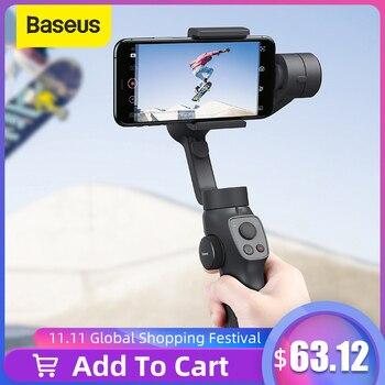 Селфи-палка Baseus с Bluetooth и 3-осевым ручным стабилизатором, уличный держатель с фокусом и зумом для экшн-камеры iPhone, алиэкспресс в рублях с бесплатной