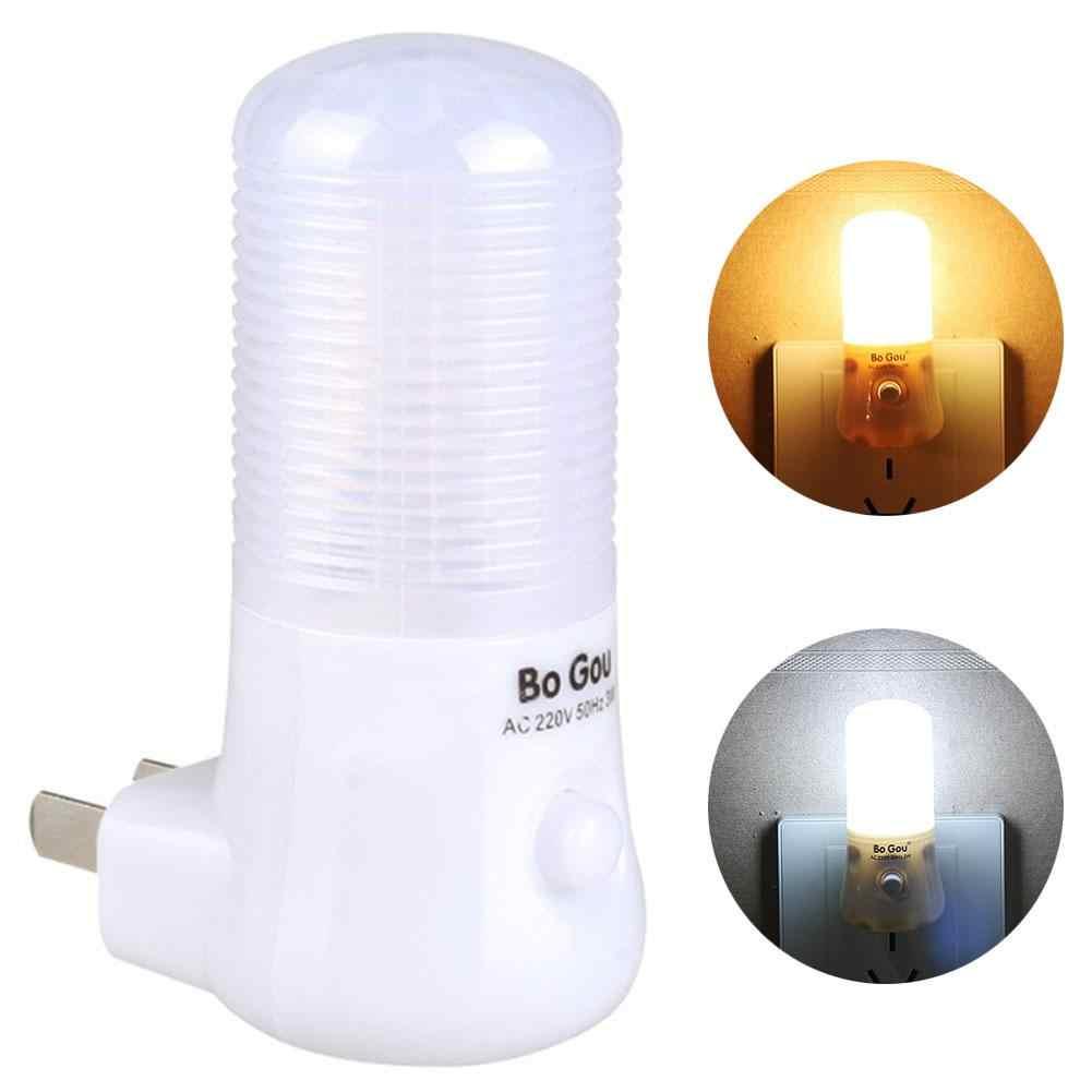 Fantastyczna 3W LED Wall Plug-in lampka nocna wtyczka amerykańska sypialnia dla dzieci przedpokój lampa dla dzieci Home Decor