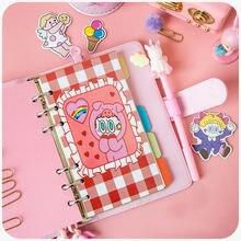 Корейский Дневник для девочек мультфильм «сделай сам» А6 блокнот