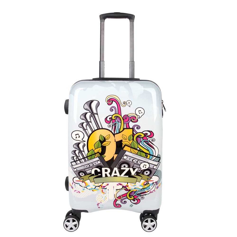 NEWCOM Luggage 24 Inch Spinner Lightweight Suitcase Medium for Teens with Spinner Wheels with TSA Lock Color Painting