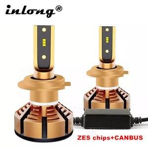 2Pcs H7 Led H4 With Imported Original ZES Chips Car Headlight Bulbs H1 LED H11 HB3 9005 HB4 Lamps 6500K 4300K 5000K 12V 12000LM(China)