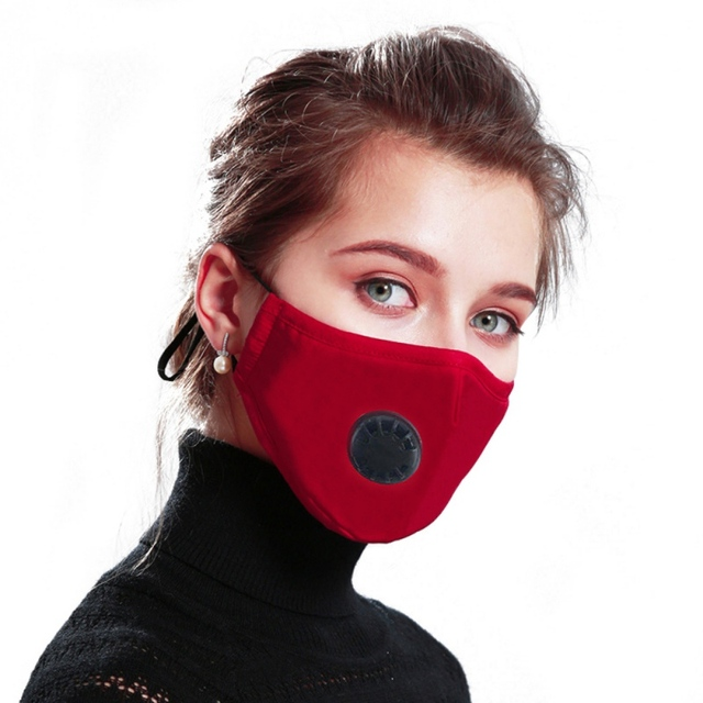 PM2.5 Black mouth Mask anti dust mask Activated carbon filter Windproof Mouth-muffle bacteria proof Flu Face mask Care s 2