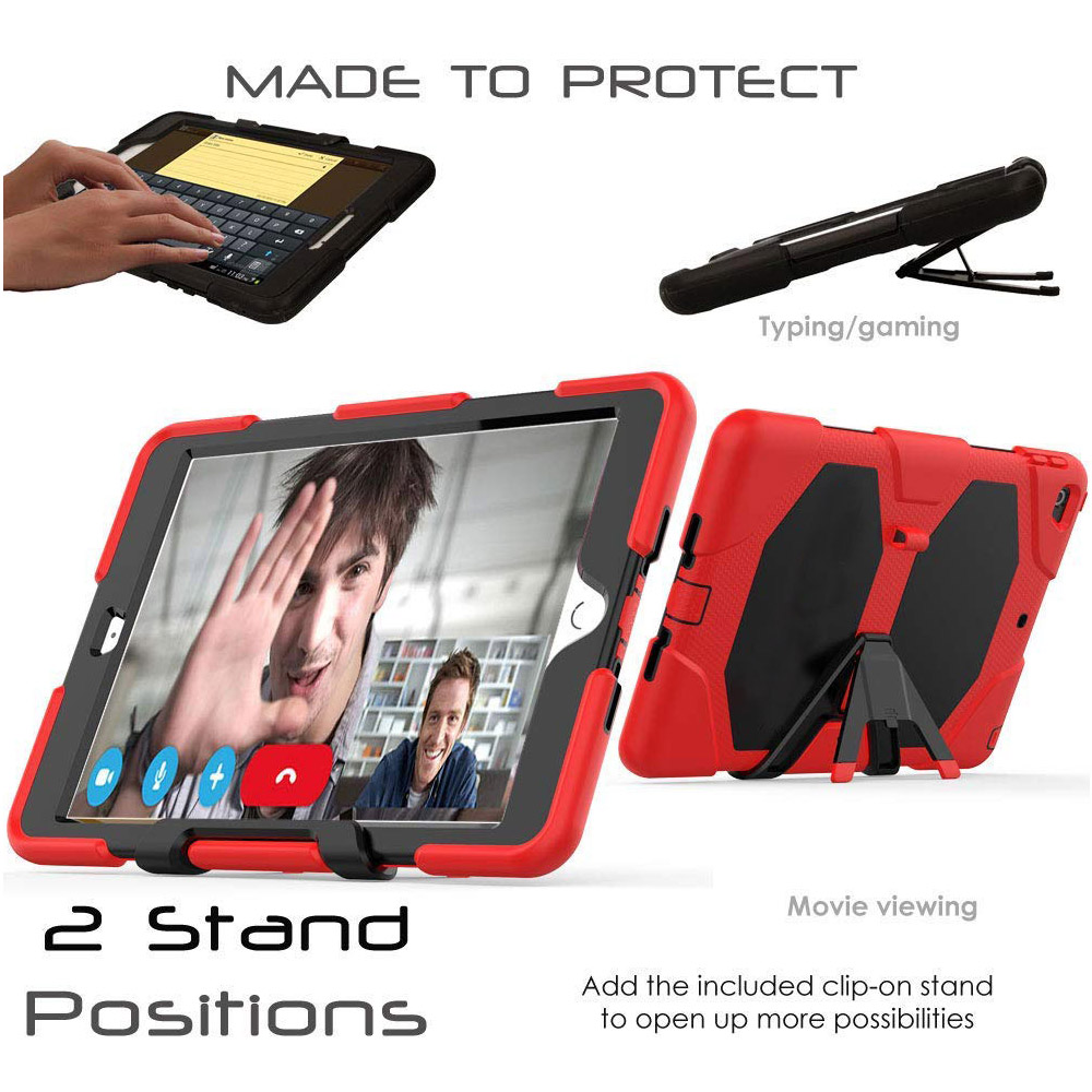 10.2 Rugged Duty For Case Case Kickstand Kids Heavy iPad Shockproof PC Armor Silicone