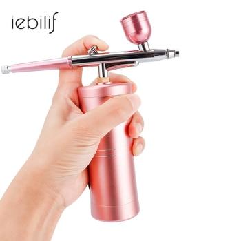 цена на Protable Dual Action 0.4mm Nozzle Airbrush Kit Compressor Air Brush Paint Spray Gun For Nail Art Desgin Tattoo Cake Air-brush