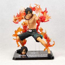 Figura de acción de One Piece, modelo coleccionable en PVC de 12cm de Portgas D Ace, contra incendios, modelo OP Luffy Brother Ace