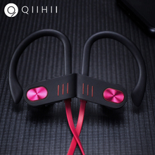 QIIHII IPX7 Waterproof Wireless Headphones HiFi Stereo Earphone Bluetooth Headset Noise Canceling Headphone Sport Earbuds ditmo 3 5mm adjustable foldable headband noise canceling stereo headphone dark blue