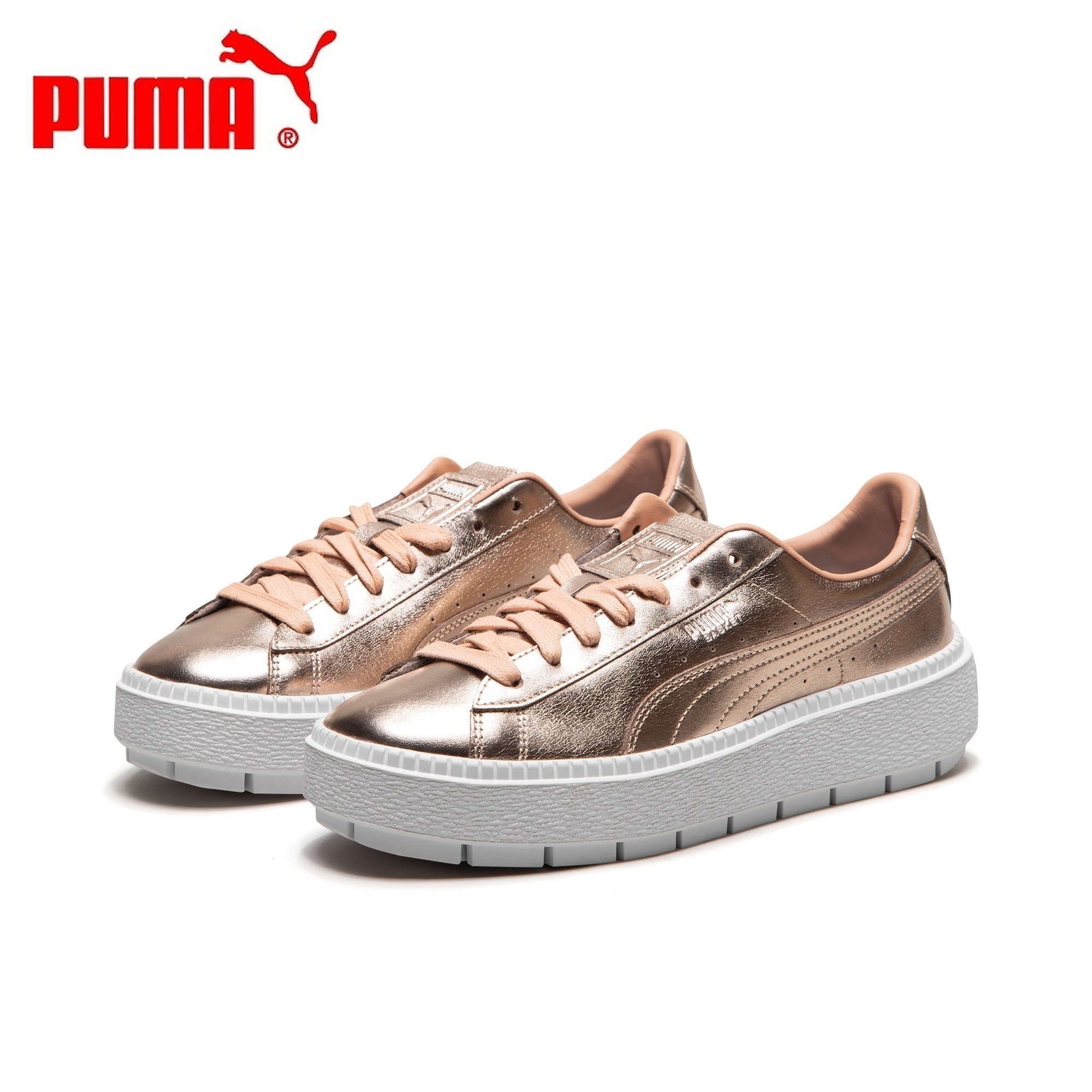 basket puma platform trace