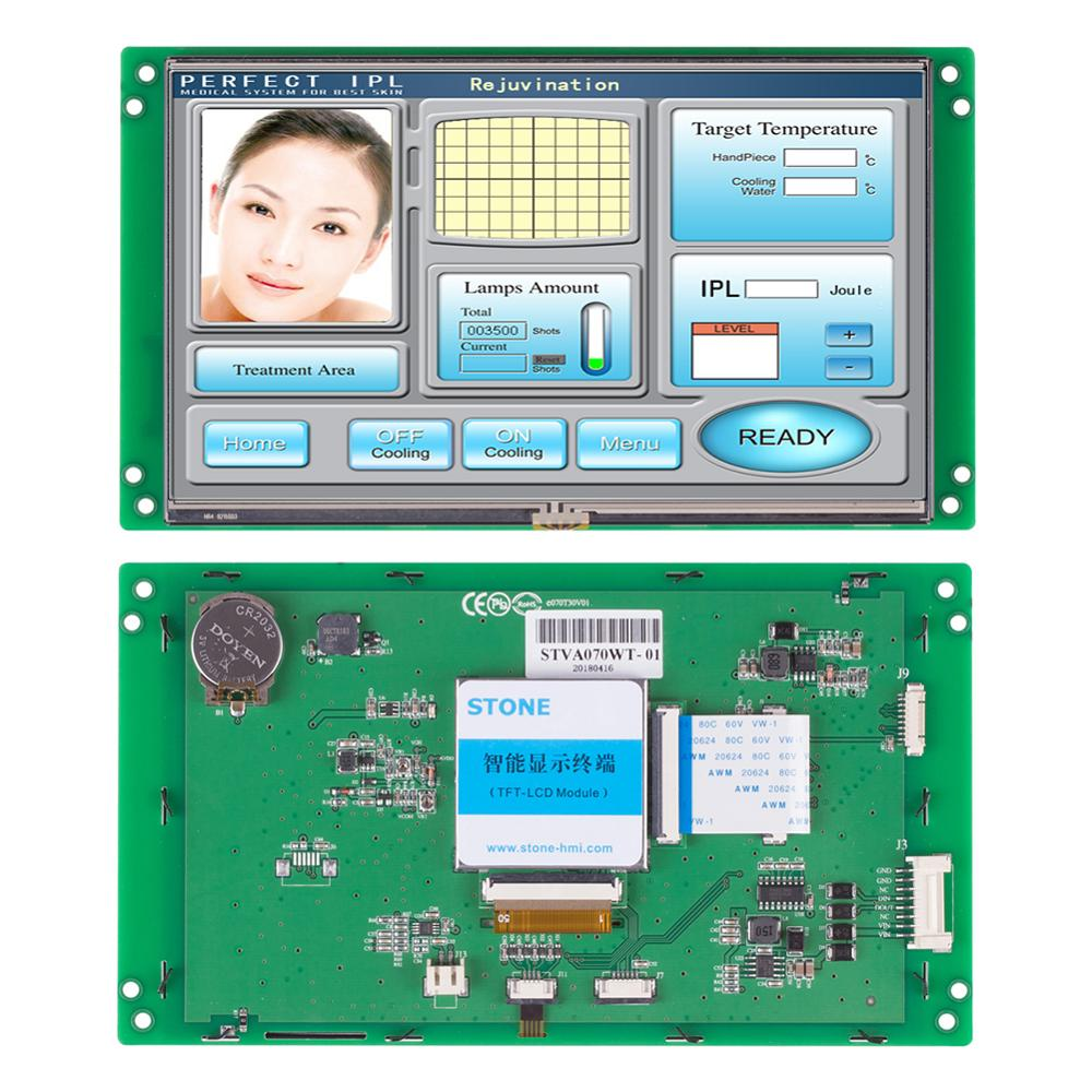 Programmable STONE 7.0 Inch HMI TFT LCD Touch Screen With Serial Interface For Industrial