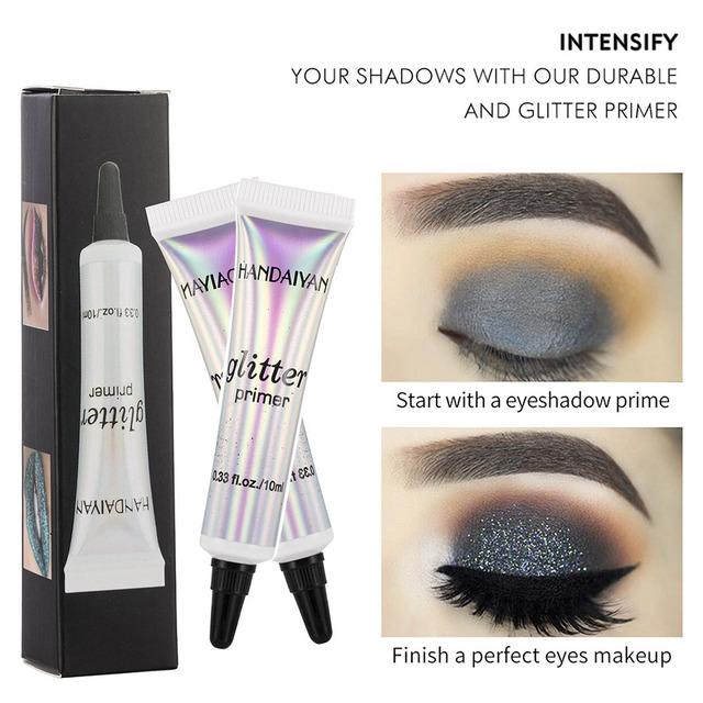 HANDAIYAN Classic Lip Eye Glitter Primer Sequined Primer Makeup Cream Waterproof Sequin Glitter Eyeshadow Glue Korean Cosmetics 2