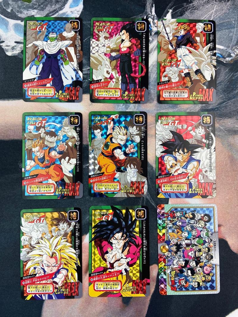 9pcs/set Dragon Ball Z Fight Special Bomb Super Saiyan Goku Vegeta Game Figures Commemorative Edition Collection Cards Limit