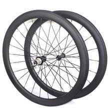 Rodas de estrada de pouco peso 700c carbono 35mm 38mm 50mm rodado de carbono de estrada rodas clincher tubulares rodas de carbono