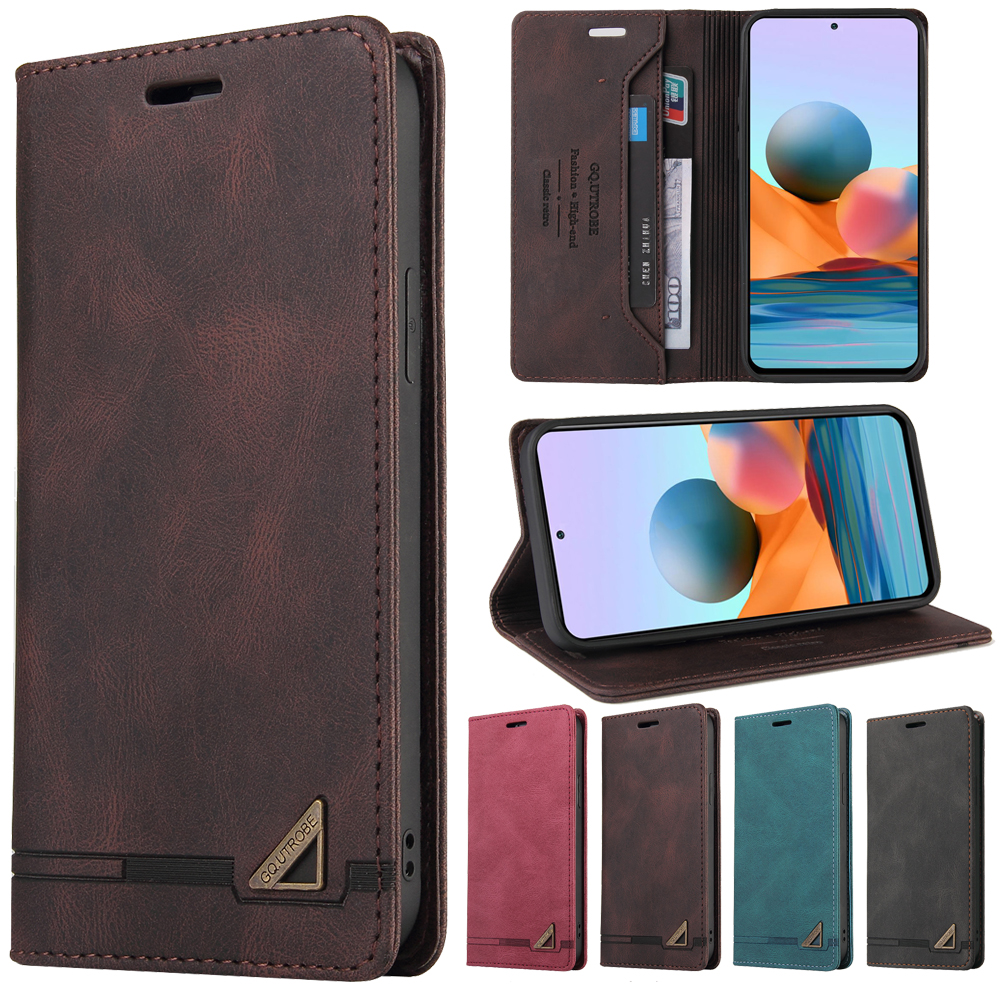 Anti theft Leather Case For Xiaomi 10T Redmi Note 10 9 8 7 Pro 10S 9S 8T Redmi 9A 9C 8A 7A Mi POCO F3 X3 NFC A3 Phone Cover Case