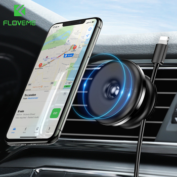 FLOVEME Magnetic Car Phone Holder for iPhone12 xiaomi Cable Clip Car Air Vent Holder GPS Navigation Mount Stand For Mobile Phone