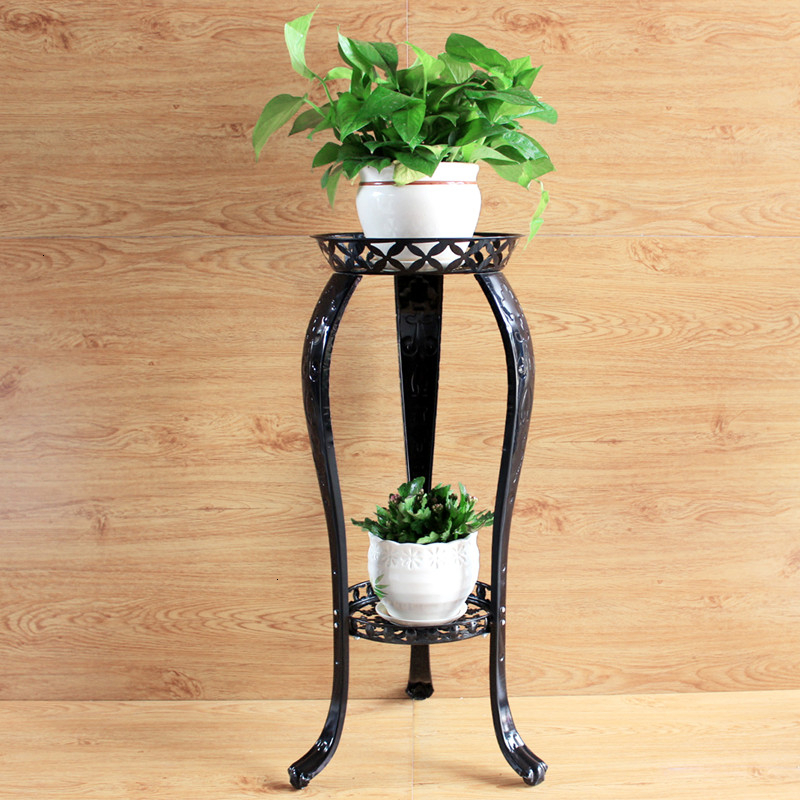 Iron Art Flower Rack Multi-storey A Living Room Indoor To Ground Balcony Chlorophytum Flower Rack Shelf Green Luo Flower Airs