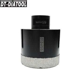 цена на DT-DIATOOL 1pc M14 Dia 65mm Vacuum Brazed Diamond Dry Drill Core Bits Porcelain Tile Hole Saw Granite Marble Stone Drilling Bit
