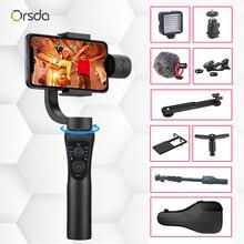 Orsda 3 축 핸드 헬드 안정기 짐벌 스마트 폰 전화 매뉴얼 iPhone11 Pro Plus S9 S8 Gopro 카메라 용 줌 페이스 트래킹