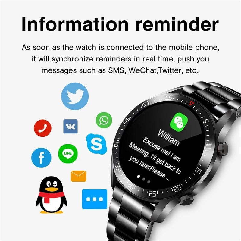 LIGE New Smart watch Men Full touch Screen Sports Fitness watch IP68 waterproof Bluetooth Suitable For LIGE New Smart watch Men Full touch Screen Sports Fitness watch IP68 waterproof Bluetooth Suitable For Android ios Smart watch