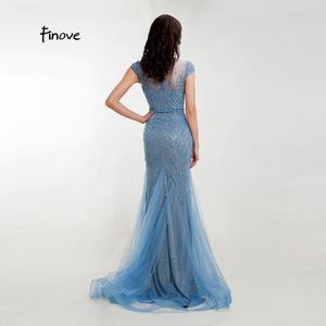 Image 5 - Vestido de noche de sirena totalmente con cuentas vestido Formal para mujer