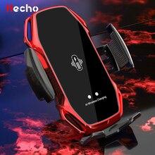 אוטומטי הידוק 10W מהיר רכב אלחוטי מטען עבור סמסונג S10 iPhone 11 פרו XS אינפרא אדום חיישן Qi טעינת טלפון מחזיק הר