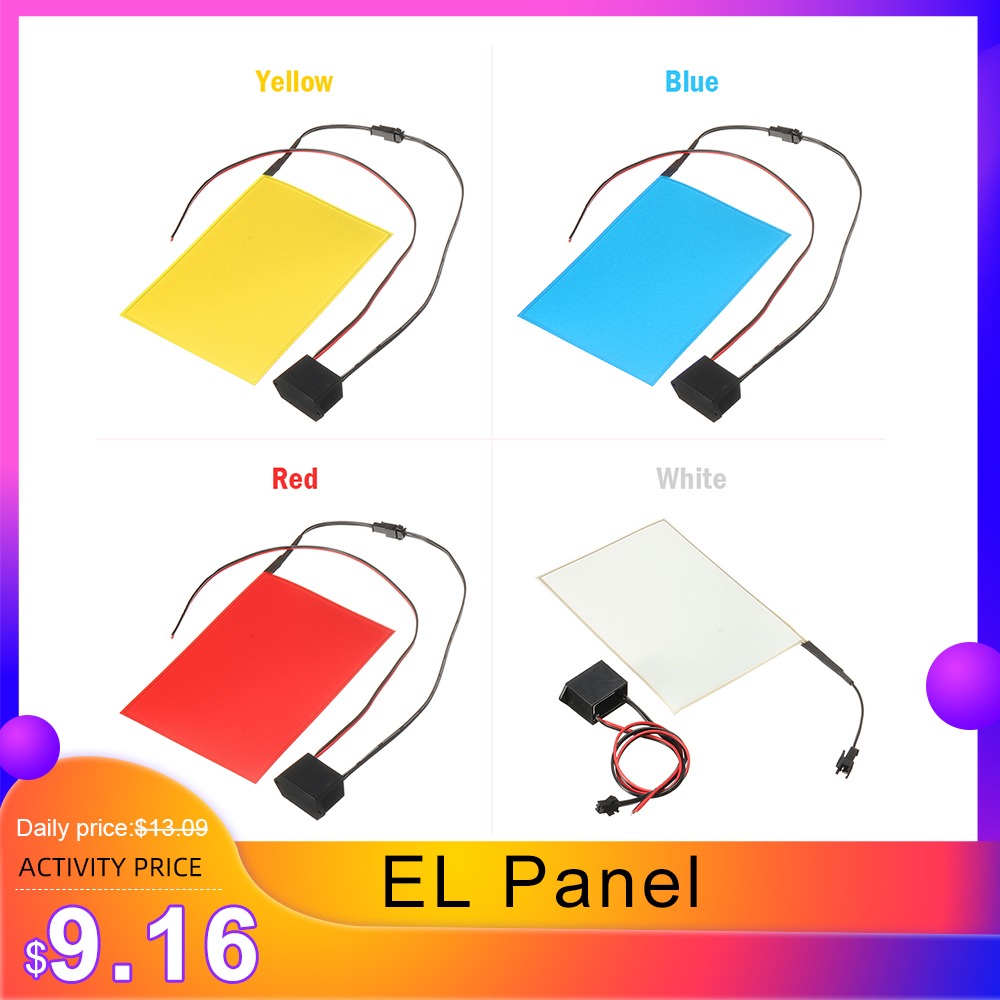 Newest A6 EL Panel Electroluminescent Cuttable Light Sheet Neon Sheet  With 12V Actuator