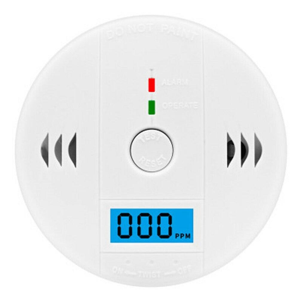 LCD Carbon Monoxide Detector Alarm CO Gas Warning Sensor Alarm Monitor Tester Home Security Carbon Monoxide Smart Sensor