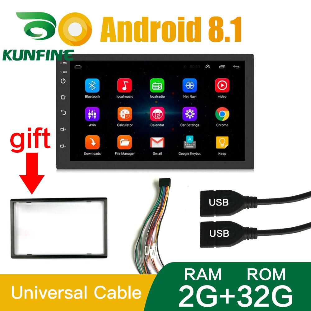 2 Din Android 8.12GB RAM 32GB ROM autoradio multimédia lecteur vidéo universel Auto stéréo GPS pour Toyota Nissan Suzuki ISO