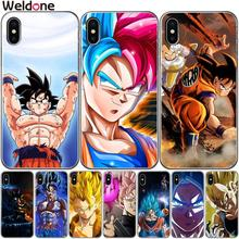 Dragon Ball Z Super DBZ Goku Fashion Cases Etui For iPhone XS Max XR X 7 6s 8 Plus 5S SE cartoon phone Case Cover etui Coque цена и фото