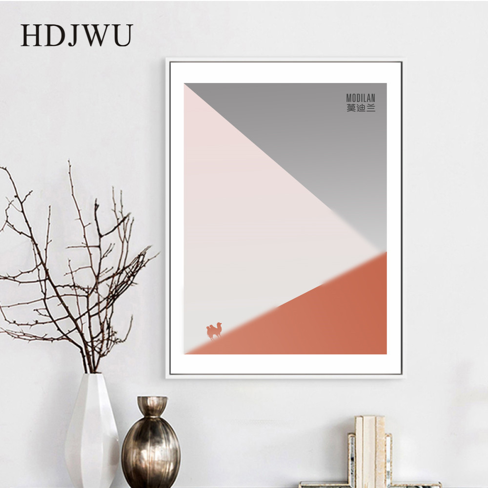 Nordic Art Home Canvas Painting Simple Modern Geometry Printing Posters Wall Pictures for Living Room DJ634