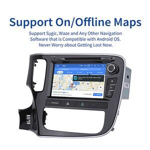 "Image 3 - Dasaita 8 ""Android 10 Octa çekirdek araba GPS Mitsubishi Outlander 2014 için DVD OYNATICI Stereo oto radyosu kafa ünitesi multimedya Video"