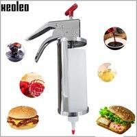 Xeoleo 1l 잼 필링 장치 프리터 필링 기계 churros 필러 슈퍼마켓/차가운 음료 상점/관광 명소 사용