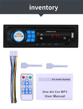 Bluetooth Autoradio 12V Car Stereo Radio FM Aux-IN Input Receiver SD USB In-dash 1 din Car MP3 Multimedia Player