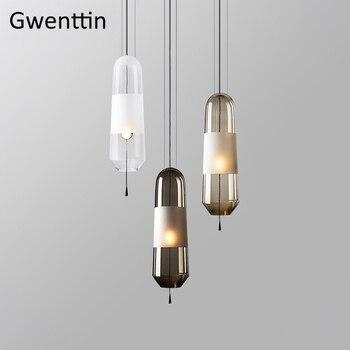 Modern Glass Pendant Lights Hanging Lamp for Dining Room Bedroom Led Light Fixtures Nordic Loft Industrial Home Decor Luminarias