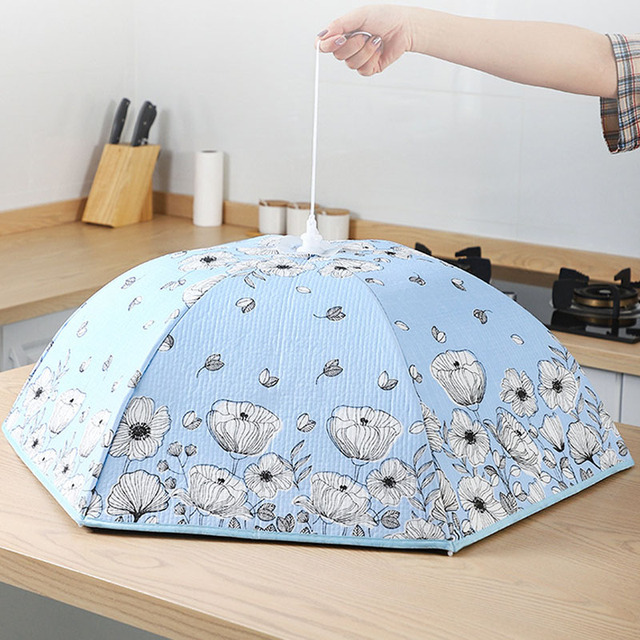 70/80 Cm Household Folding Dining Table Cover Insulation Dish Covers Winter Dust-Proof Insulation Leftover Food Kitchen Supplies 4