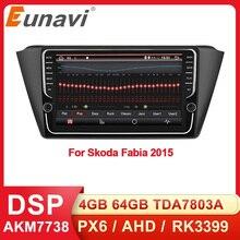 Eunavi Car Multimedia Player Radio GPS For Skoda Fabia 2015 2016 2017 2018 2019 2 din Android Autoradio Navigation WIFI RDS