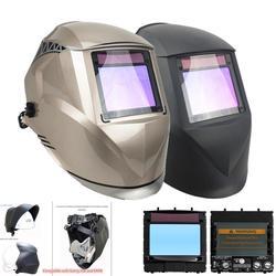 Casco di Saldatura Vista Dall'alto 100X73 Mm (3.94X2.87 ) top Ottico Classe 1111 4 Sensori Ombra Din 4 (3)-13 Ce Auto Oscuramento Maschera di Saldatura