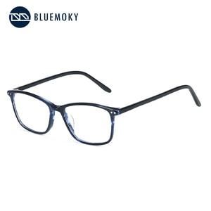 Image 5 - BLUEMOKY Semi Oval Fashion Eyeglasses Anti Blue Ray Spectacles Photochromic Glasses Prescription Glasses Eyewear 2019 BT3021