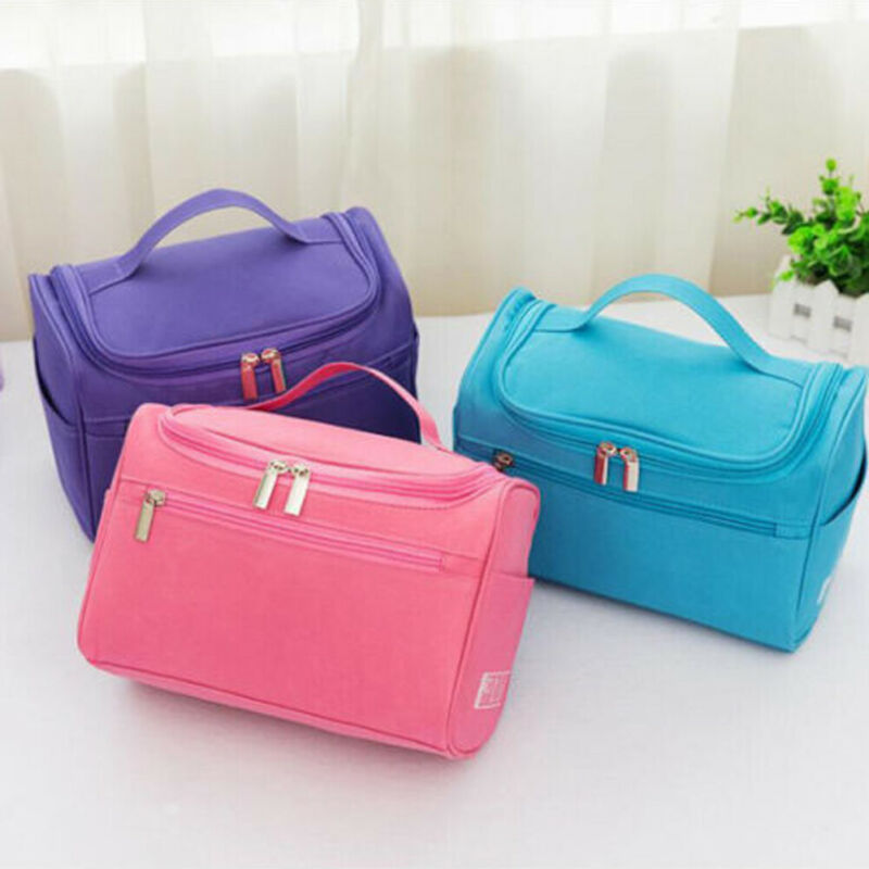 Women Men Professional Large Makeup Bag Cosmetic Case Storage Handle Pouch Toiletry Organizer Travel Kit Wash Zipper Waterproof