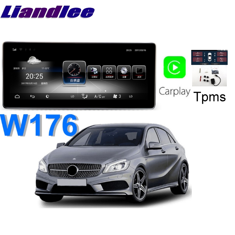 Liandlee Car Multimedia Player NAVI For <font><b>Mercedes</b></font> Benz MB A <font><b>W176</b></font> A160 A180 A200 2013~2018 CarPlay TPMS Stereo GPS <font><b>Navigation</b></font> image