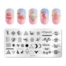 PICT YOU AnimalNail estampage plaques acier inoxydable géométrique ongles Image timbre plaque Brird papillon estampage modèles outils