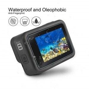 Image 4 - VSKEY cristal templado para cámara GoPro Hero 8, Protector de pantalla LCD + tapa de lente, película protectora para Hero 8, color negro, 100 Uds.