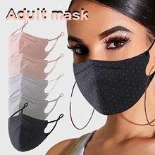 Masque facial réutilisable avec fil de fer pour femmes, en coton de styliste pour la fabrication de masques