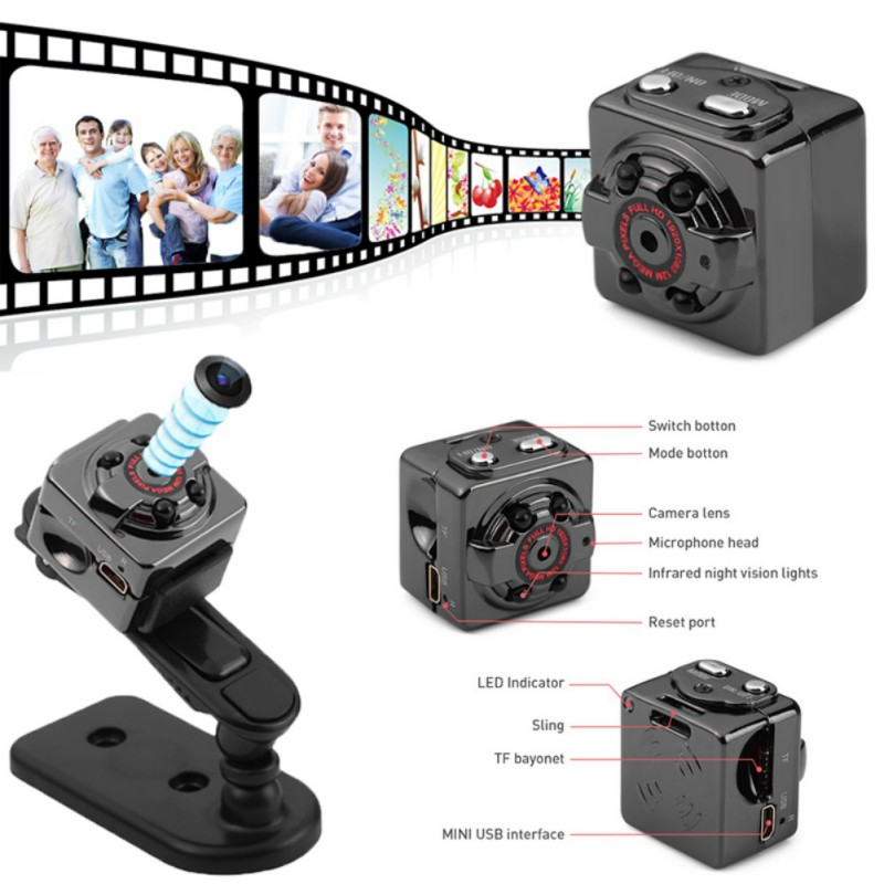 SQ8 HD Kamera Mini Kamera 1080p Micro Outdoor Kamera Sport Video Nachtsicht DVR DV Motion Sensor Camcorder