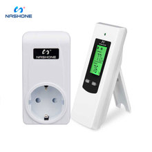 Nashone temperature controller wireless thermostat room floor heating thermostat control LCD 230V thermostat socket 433mhz EU,