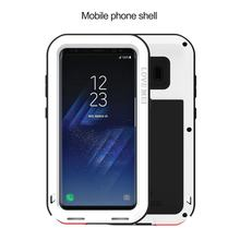 LOVE MEI POWERFUL FOR GALAXY S8 Phone Case Shatterproof Screen Design Phone Case Round Arc Corners Silicone Protective Case(China)