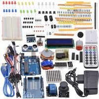 Ultimate Starter Kit including Ultrasonic Sensor, R3 board, LCD1602 Screen for Arduino Mega2560 UNO Nano with Plastic Box