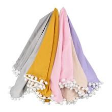 все цены на Infantborn Swaddling Baby Blanket Soft Cotton Side Blanket Adults Blankets Sleep Bedspreads Air Conditioning Blanket S1 онлайн